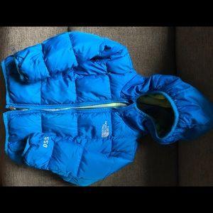 Blue toddler North Face coat